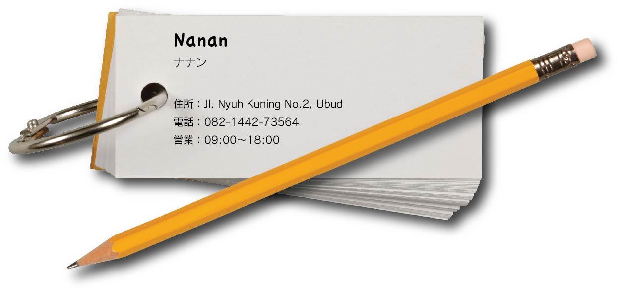 Nananの住所の画像