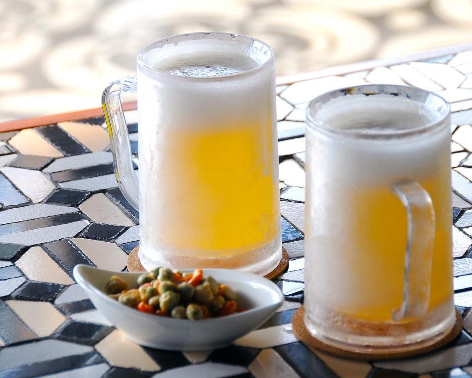 S.K.A.I. Beach Club マイナス2度の生ビール